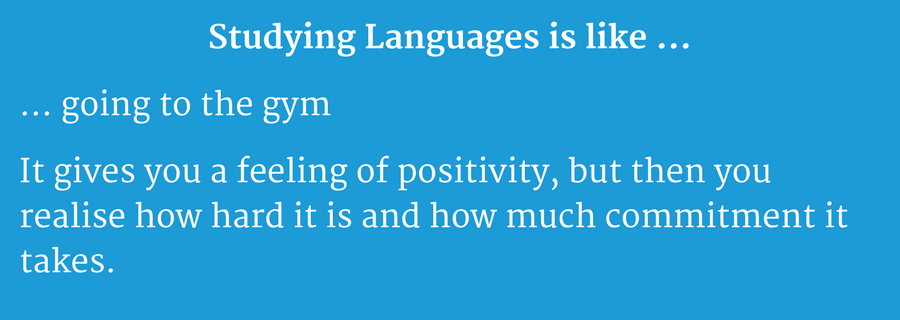 studying languages is like going to the gym