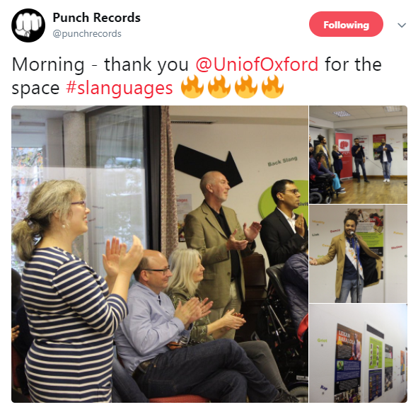 Tweet about slanguages