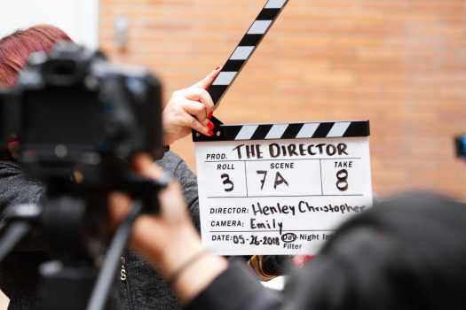 clapper board film