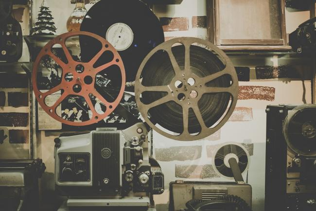 Old-fashioned film equipment