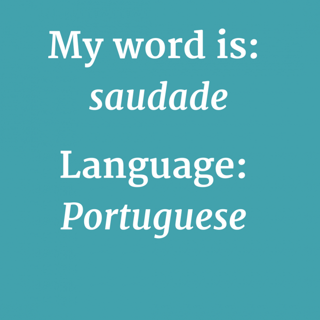 My word is saudade image