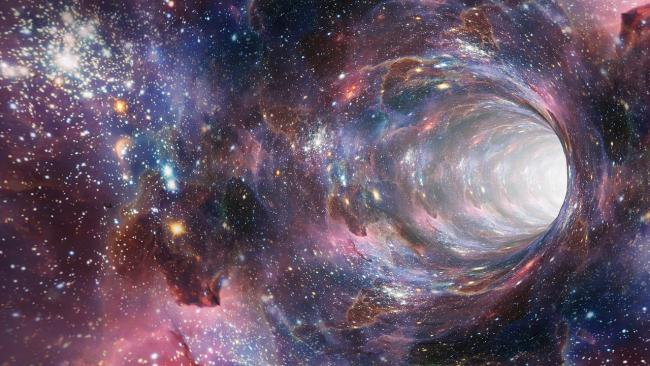 Time travel tunnel in space