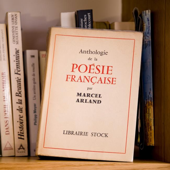 French poetry book