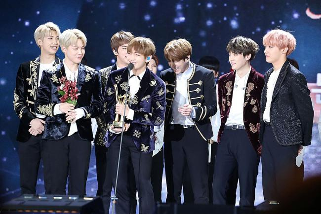BTS at the Golden Disk awards
