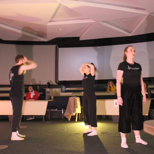 Dance Ahead performing at the Performing Languages conference