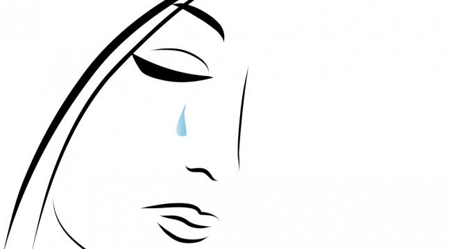 Woman crying illustration